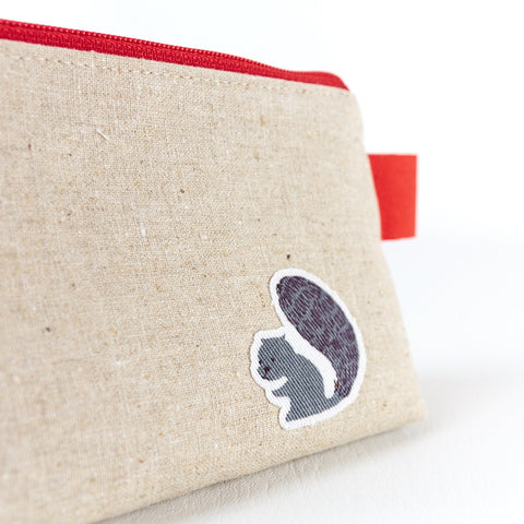Small Red Fox Make Up Bag - Toiletry Bags - Song of the Seam - 5