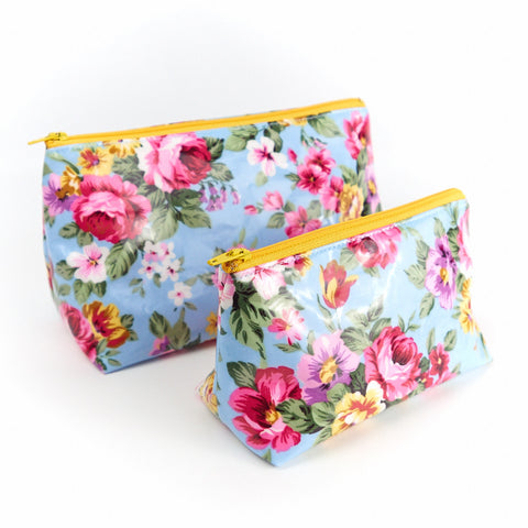 Water Resistant Floral Cosmetic Bags