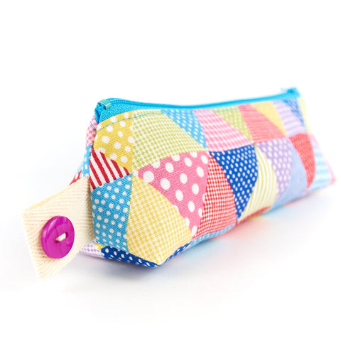 Polka Dot and Gingham Zipper Pouch