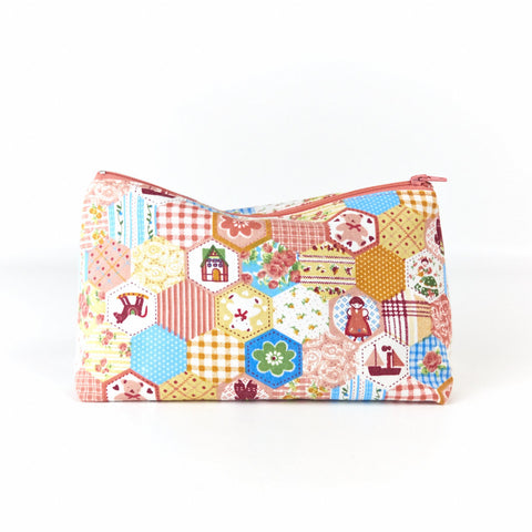 Patchwork Pastels Cosmetic Bag