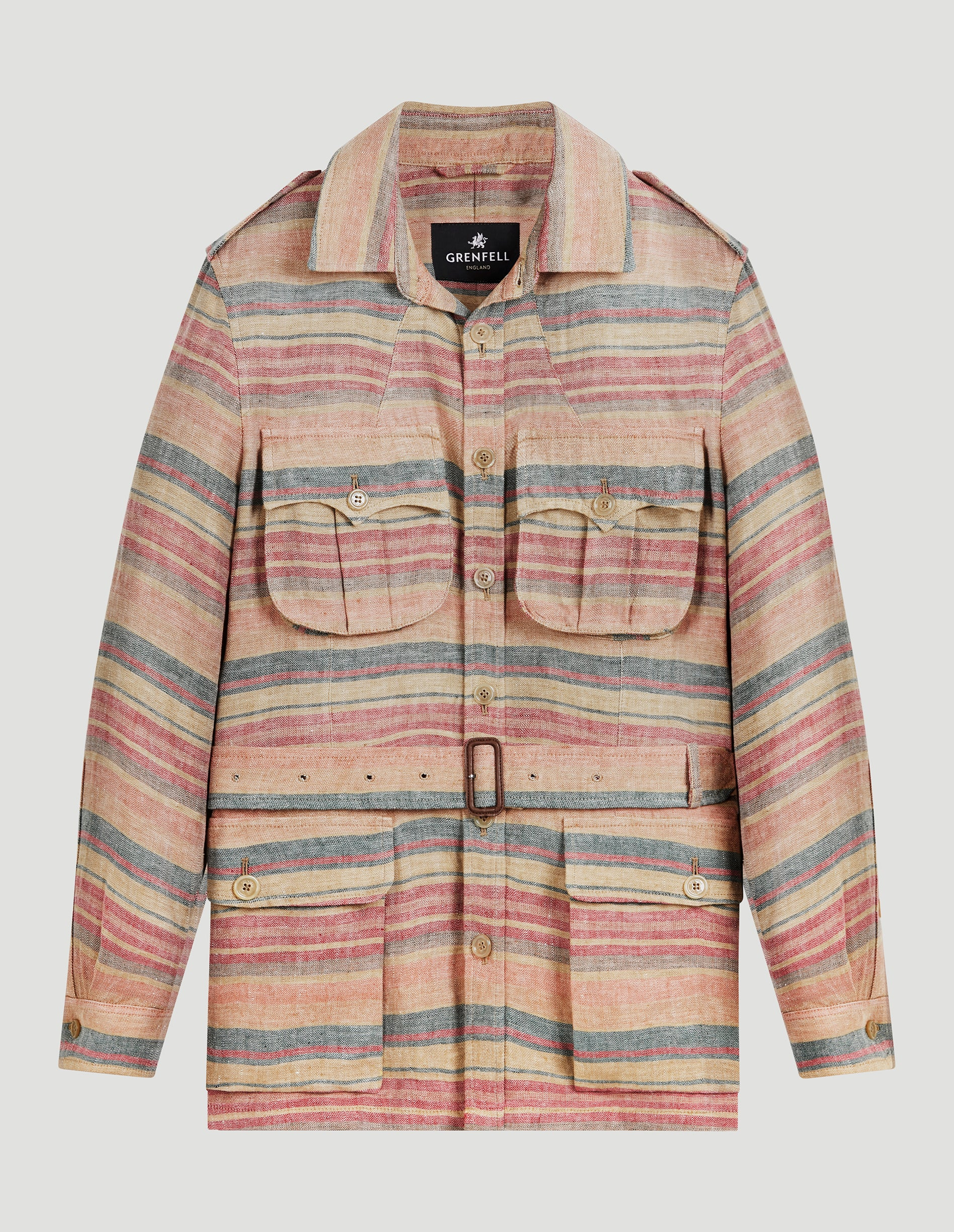 Burma Washed Lined Striped