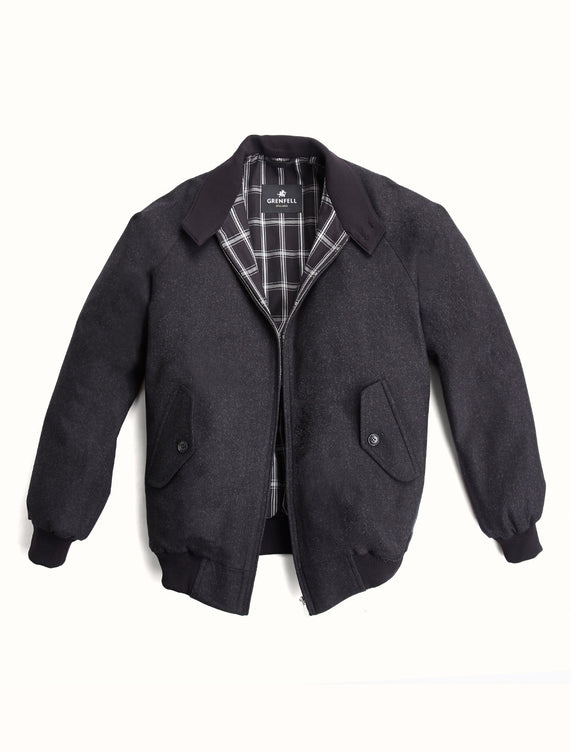 Harrington (Classic Fit) Merino Wool Black