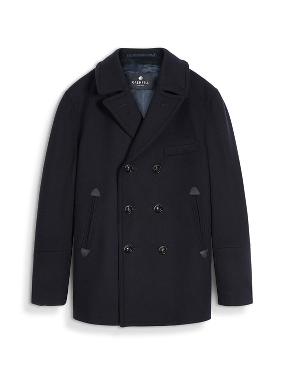 Chatham Peacoat Merino Wool Navy