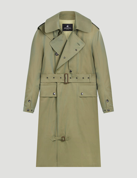 Despatch Riders Coat Two-Tone Gabardine Sage