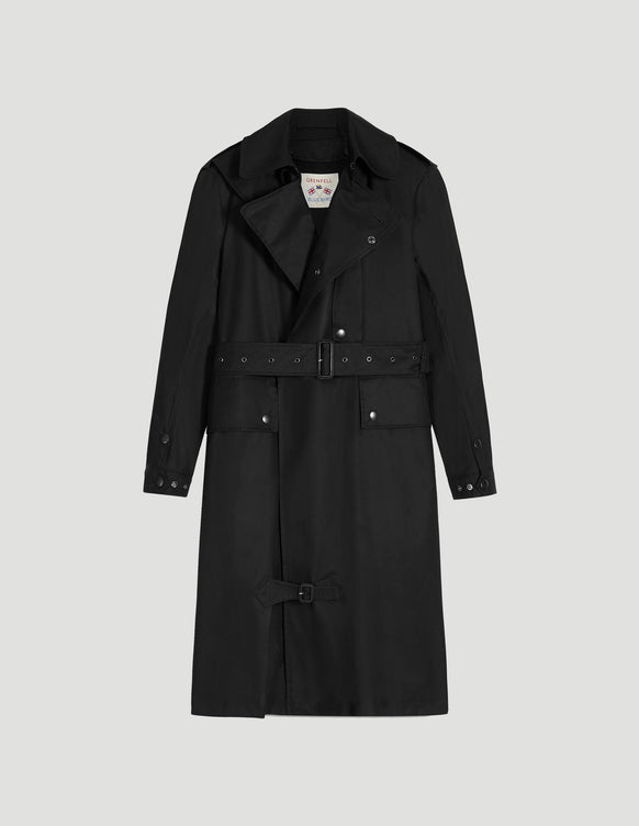 Despatch Riders Coat Grenfell Cloth Black