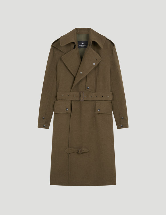 Despatch Riders Coat WWII Khaki Wool