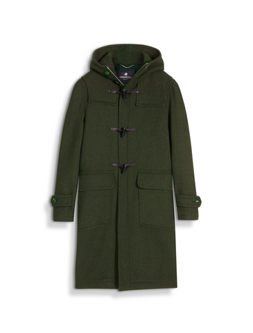 The Original Duffle Coat in Green Merino Wool