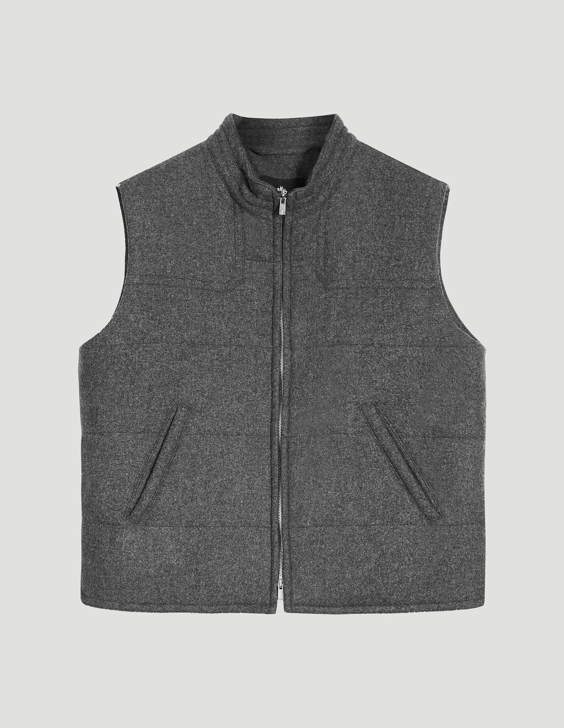 The Gilet in Grey Merino Wool