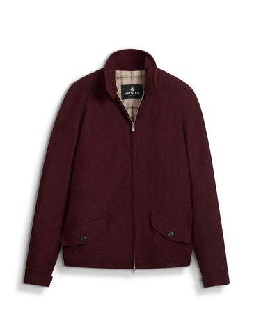Golfer Merino Wool in Burgundy