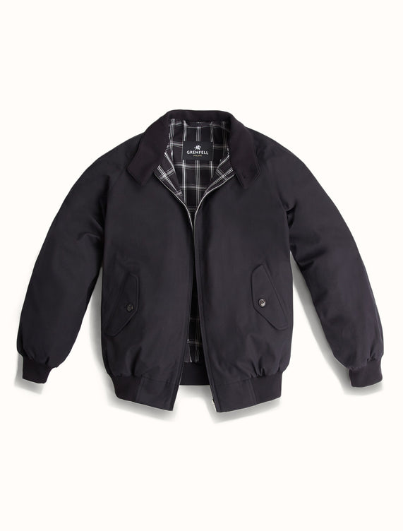 Harrington Peached Cotton Black