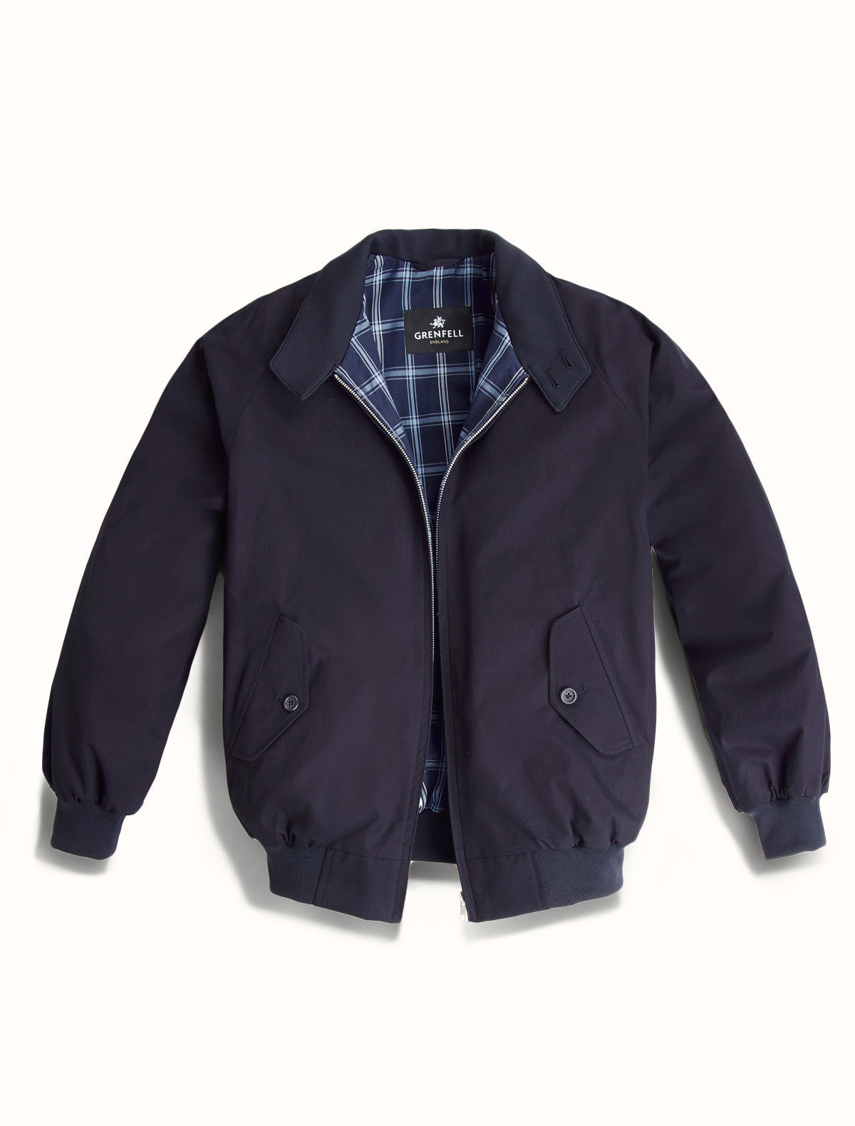 Harrington Peach Cotton in Navy