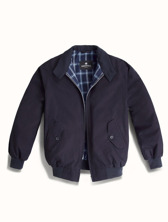 Harrington Peached Cotton Navy