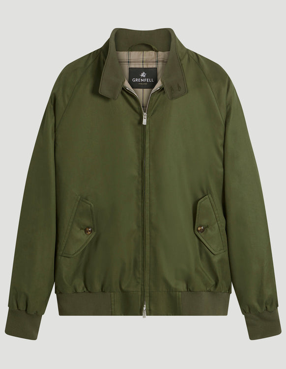 Harrington (Standard Fit) Grenfell Cloth Green