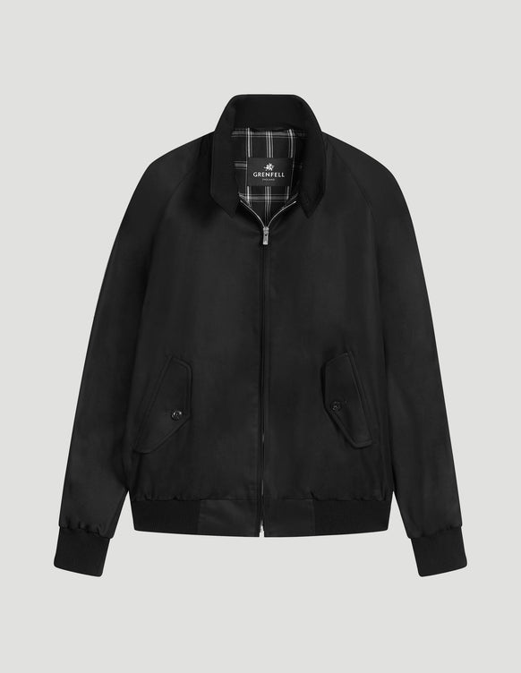 Harrington (Standard Fit) Grenfell Cloth Black