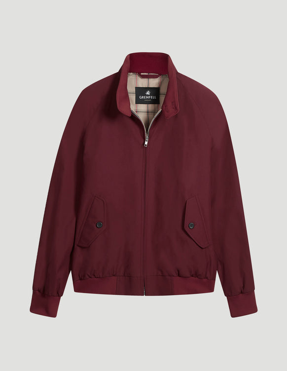Harrington Peached Cotton Burgundy