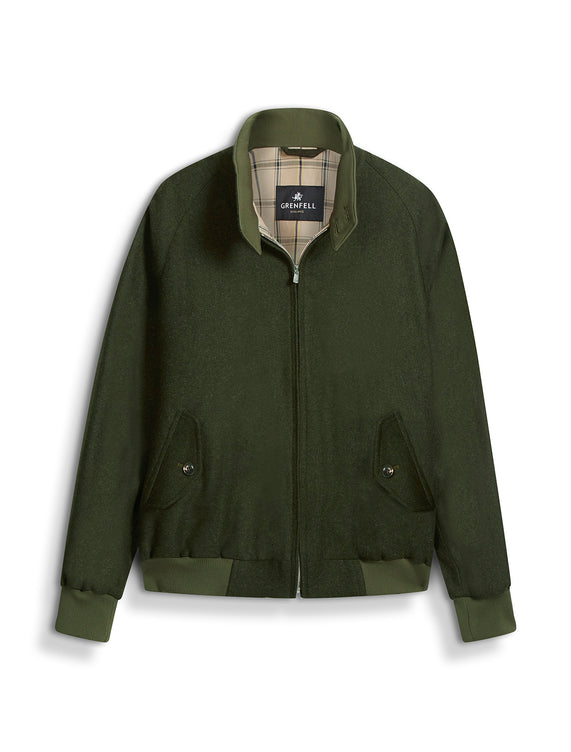 Harrington Merino Wool Green