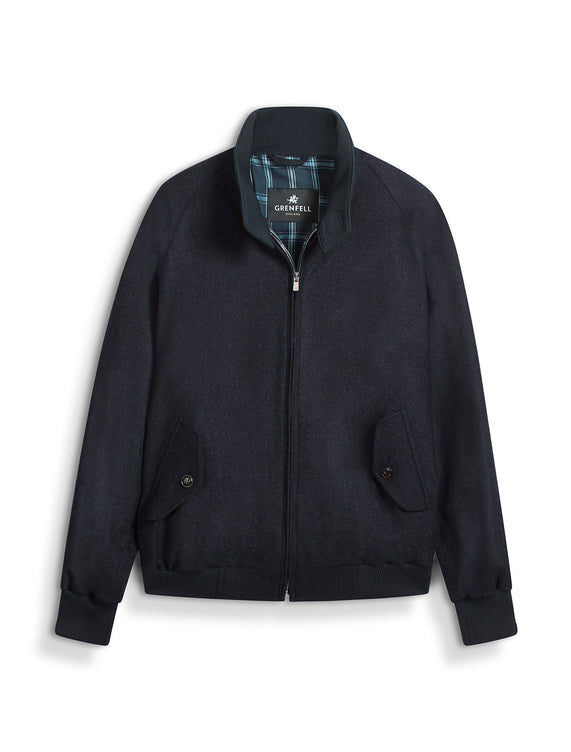 Harrington (Classic Fit) Merino Wool Navy