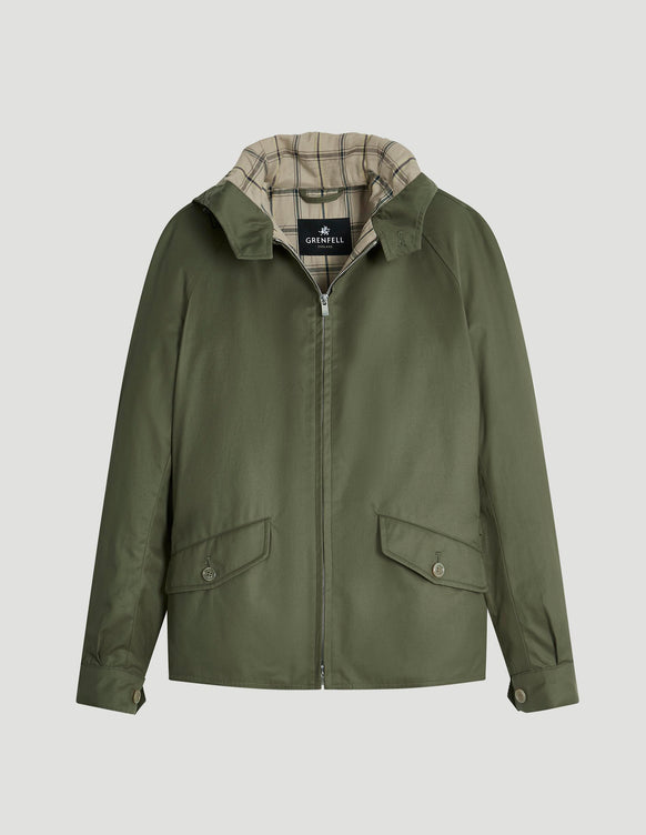 Hooded Golfer Grenfell Cloth Olive