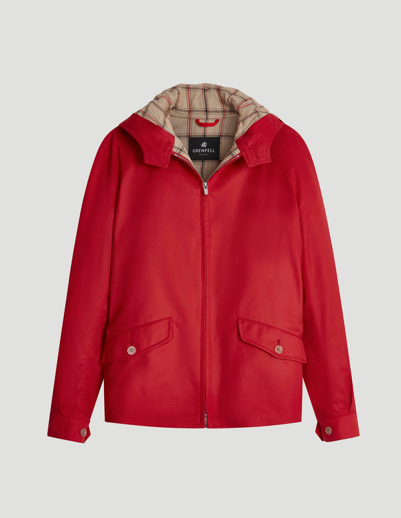 Hooded Golfer Grenfell Cloth Red