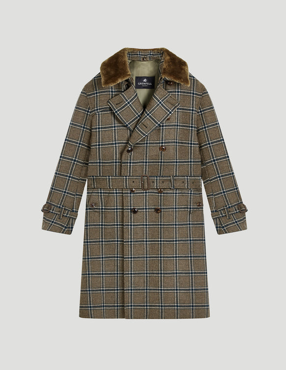 Kensington Wool Check Brown