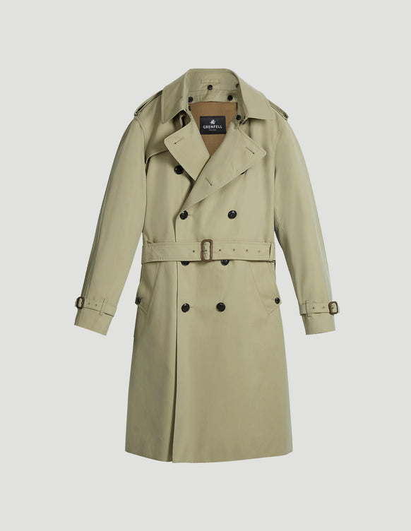Kensington Trench Coat Cotton Gabardine Beige
