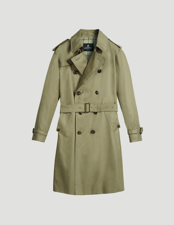 Kensington Trench Coat Grenfell Cloth Beige