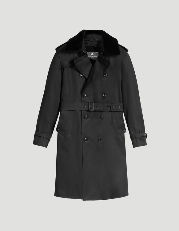 London Trench Coat Grenfell Cloth Black