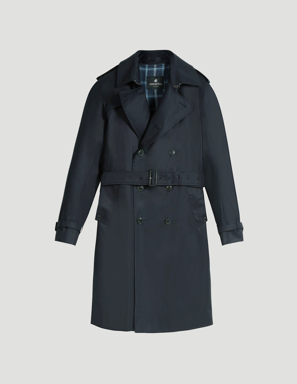 Kensington Trench Coat Grenfell Cloth Navy