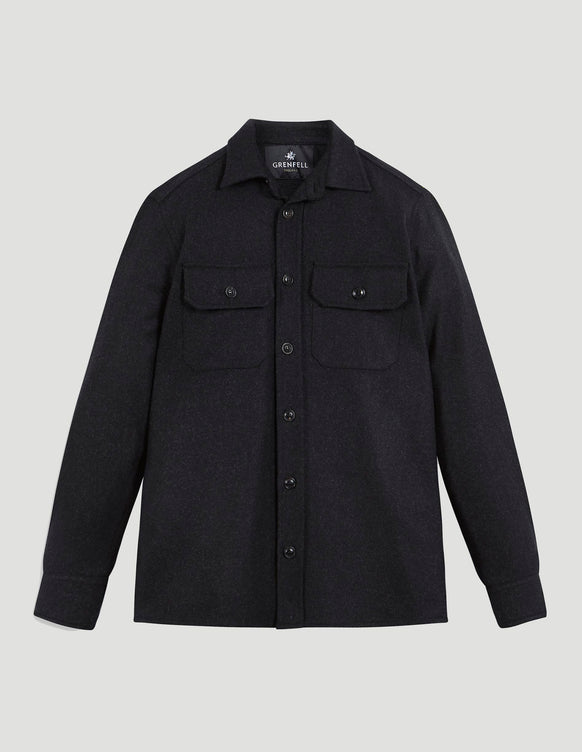 Overshirt Merino Wool Black