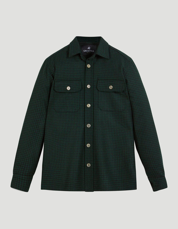 Overshirt Gingham Check Green & Black