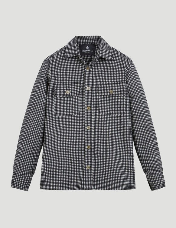 Overshirt Gingham Check White & Black