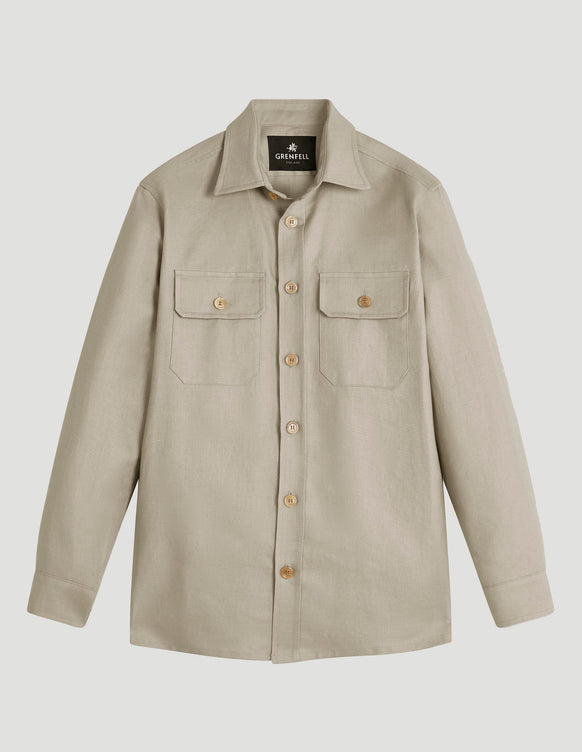 Overshirt Linen Off-White