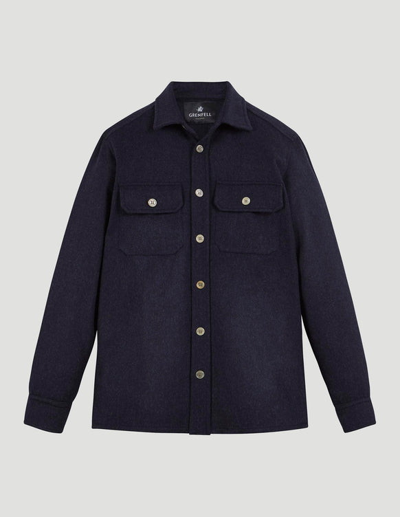 Overshirt Merino Wool Navy