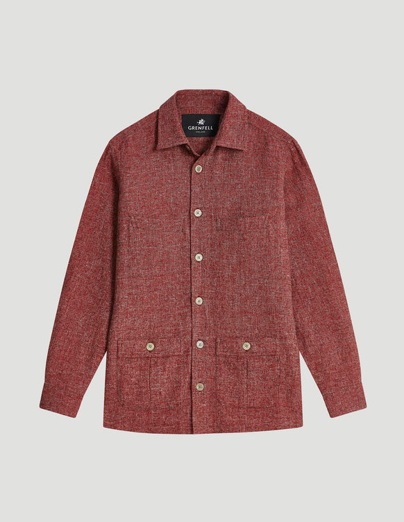 Shacket Linen Cotton Red