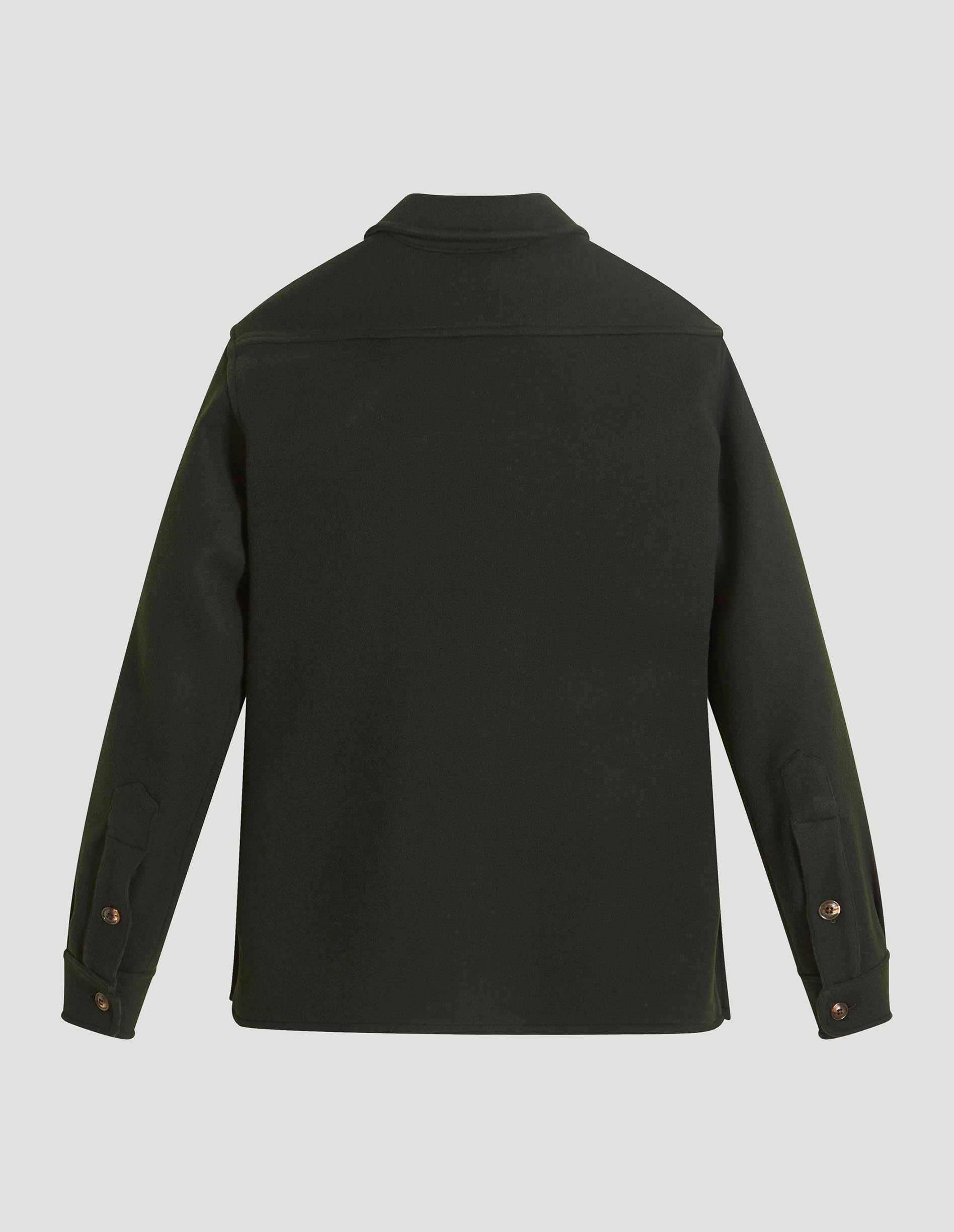 Overshirt - Heavy Double Faced Wool Green