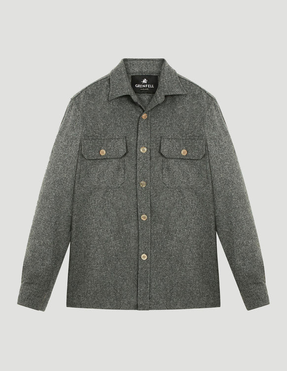 Overshirt Merino Wool Grey