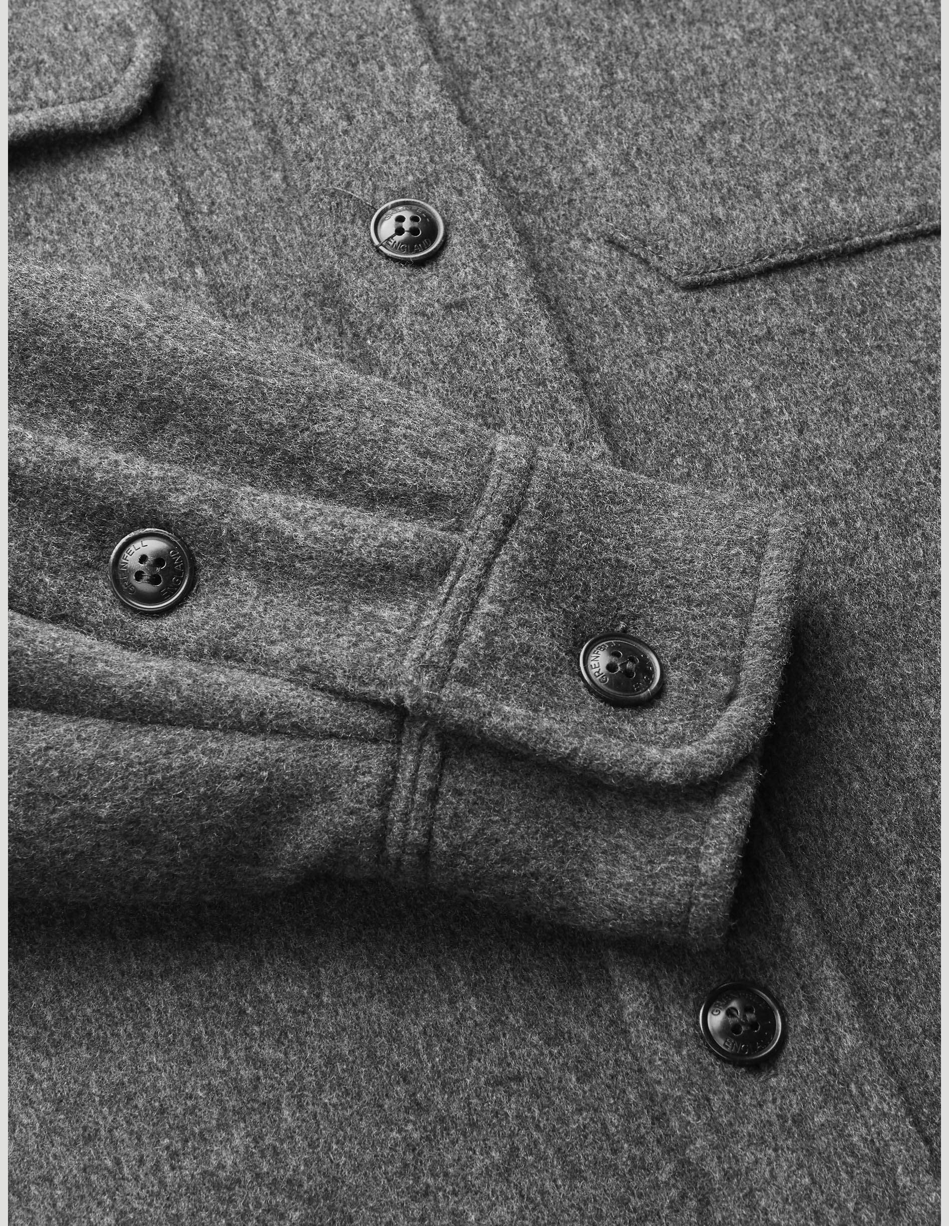 Overshirt - Heavy Double Faced Wool Grey & Camel