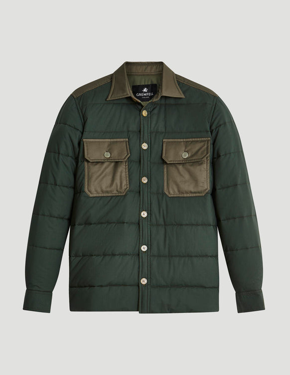 Overshirt Insulated Ripstop Cotton Green