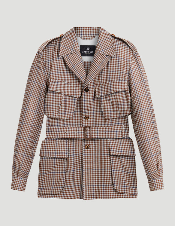 Sahara Grenfell Cloth Lightweight Wool Check
