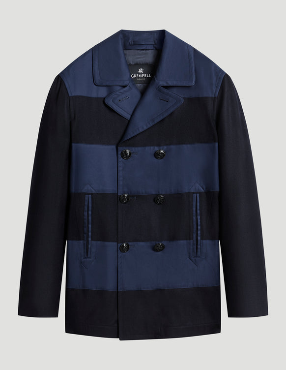Shoreham Peacoat Merino Wool Grenfell Cloth Navy