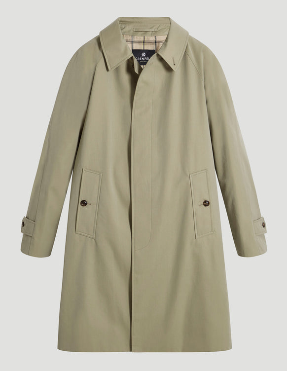 Campbell (Classic Fit) with Detachable Liner Cotton Gabardine Beige