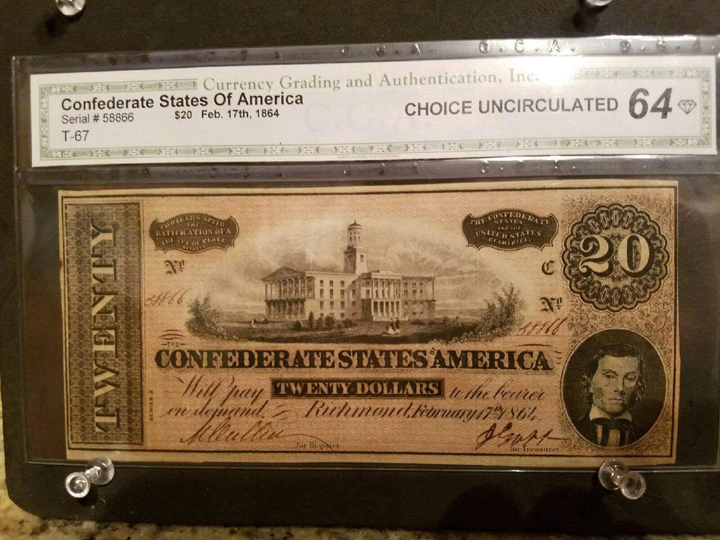 CGA graded 64 $20 Dollar Note - SOLD