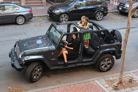 kids in jeep