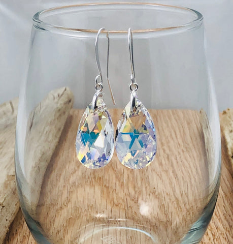 Pear Shape Swarovski Earrings Large