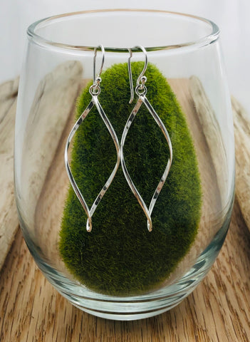 Open Leaf Sterling Silver Earrings