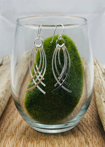 Curved Chandelier Earrings