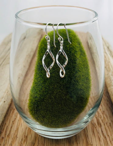 Small Open Leaf Earrings