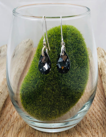 Pear Shaped Swarovski Earrings Small