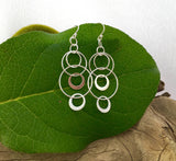 Multi circle drop earrings
