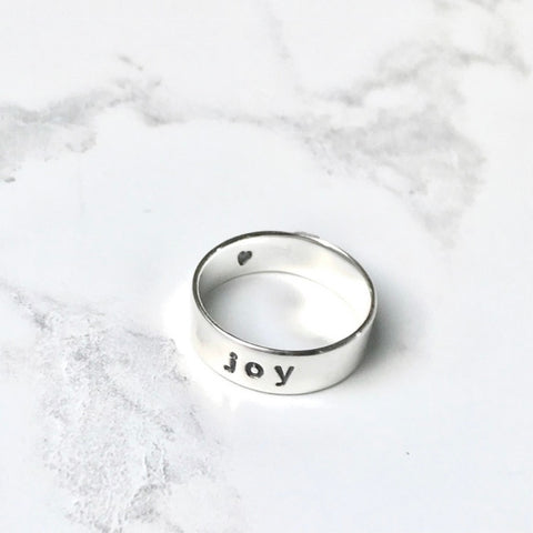 Empowering word of the year silver ring